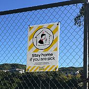 Corflute Signboard with Eyelets for attaching to a Fence
