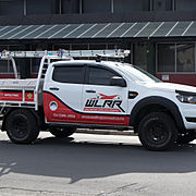 Wellington Long Run Roof Ute with a partial wrap